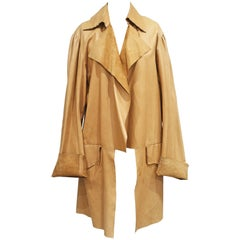 Worlds End by Vivienne Westwood and Malcolm Mclaren raw cut leather coat, c.1981