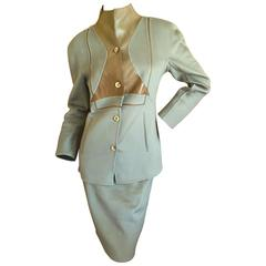 Chado Ralph Rucci Pure Cashmere & Leather Suit