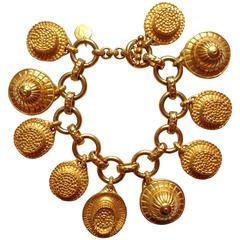 1980s Dominique Aurientis Hat Charm Bracelet