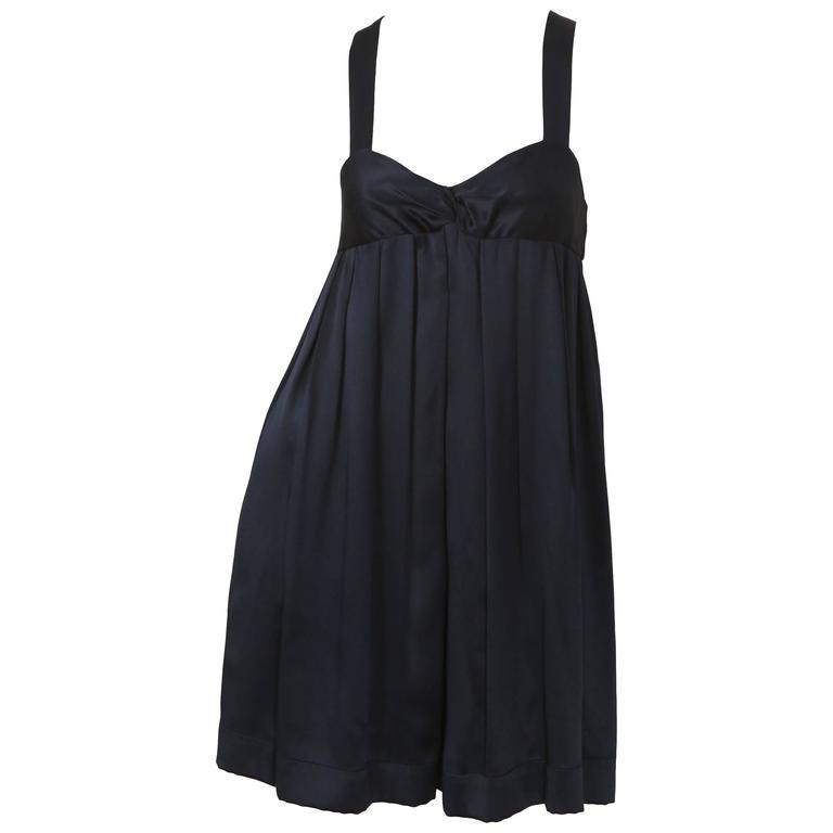 Proenza Schouler Navy Babydoll Dress