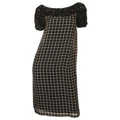 Dries Van Noten Short Sleeve Black/White Printed Dress