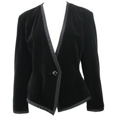 Yves Saint Laurent Rive Gauche Black Velvet Evening Jacket