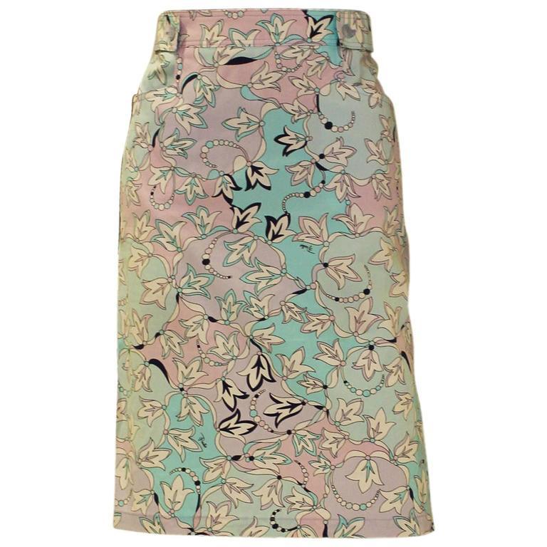 Pucci Cotton Skirt 1