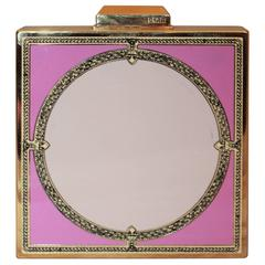 Emilio Pucci Gold Clutch with Pink Enamel Design