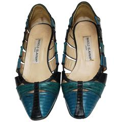 Vintage, Three Colours Blue shoes by Manolo Blahnik