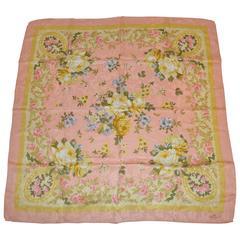 Frey Multi-Color Silk Crepe di Chine Floral Scarf