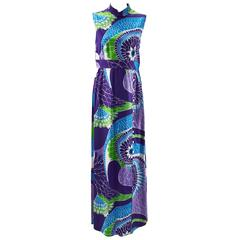 Tori Richard Hawaiian Print Sleeveless Maxi Dress, 1970s