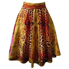 "Quintessential Gianni Versace Couture ""Miami"" Silk Skirt"