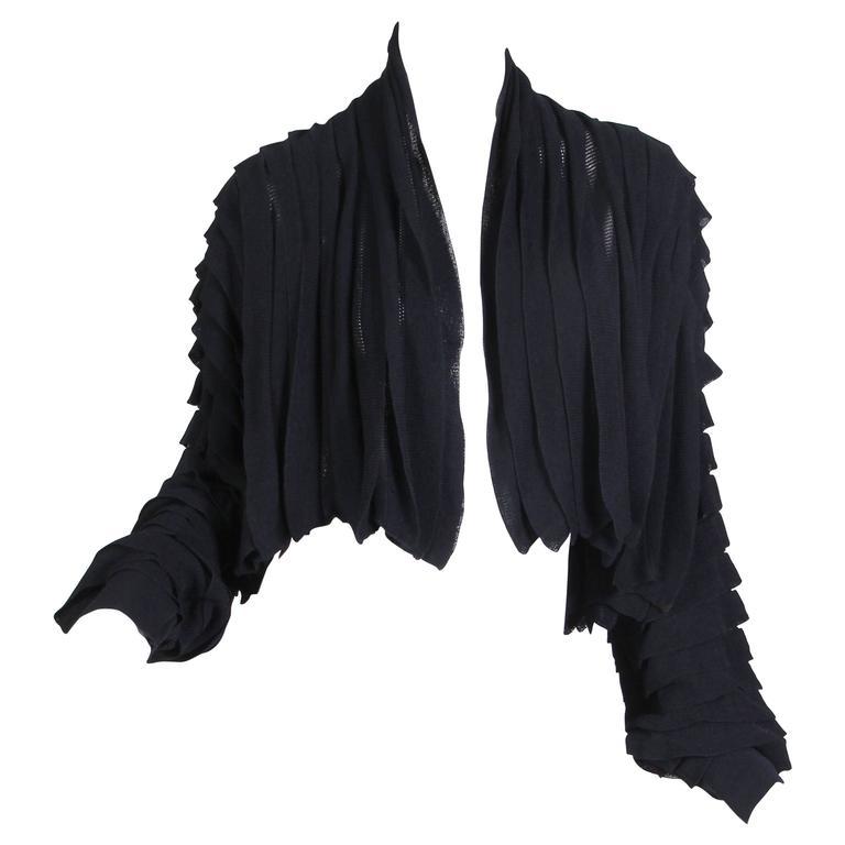 Early Issey Miyake Pleat Knit Jacket
