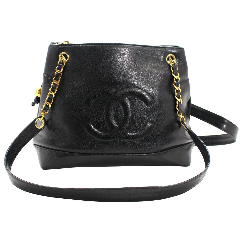 2b0b004450a7 Chanel Black Caviar Leather Shoulder Bag | Stanford Center for ...