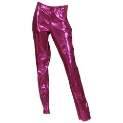 Rare 1960s Lurex Stretch Stagewear Western Trousers