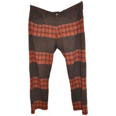 Junya Watanabe/Comme des Garcons Multi-Color Plaid Men's Trousers