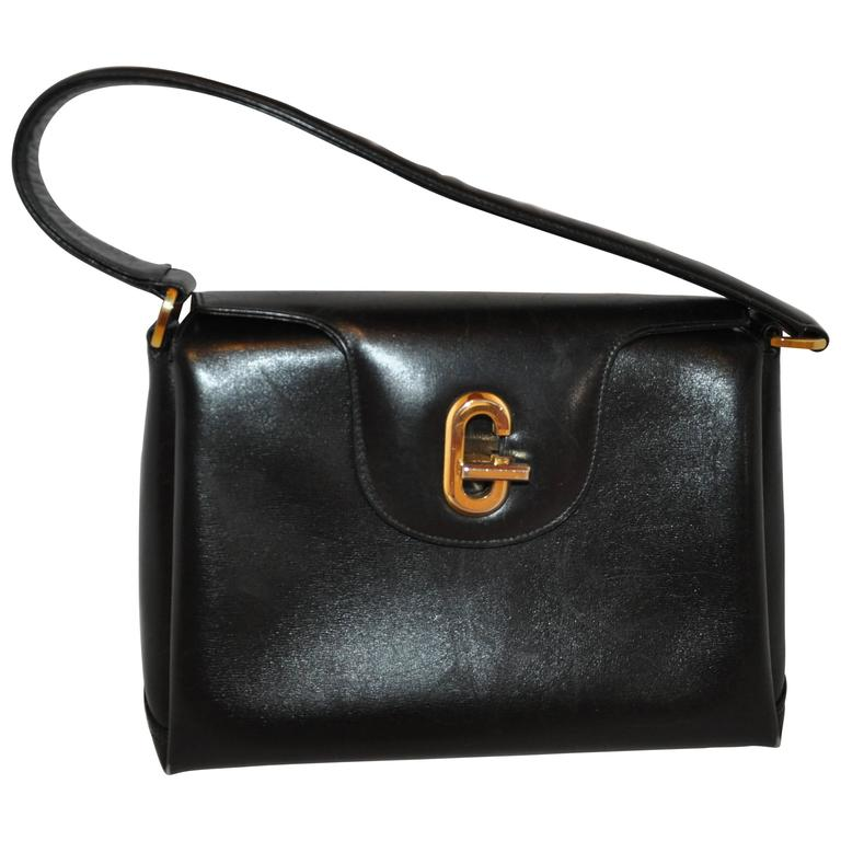 Gucci Black Calfskin Three Sectional Hangbag 1