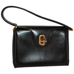 Gucci Black Calfskin Three Sectional Hangbag
