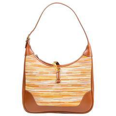 "Hermes ""Trim II"" Maroon Brown Barenia and Vibrato Leather Shoulder Bag"