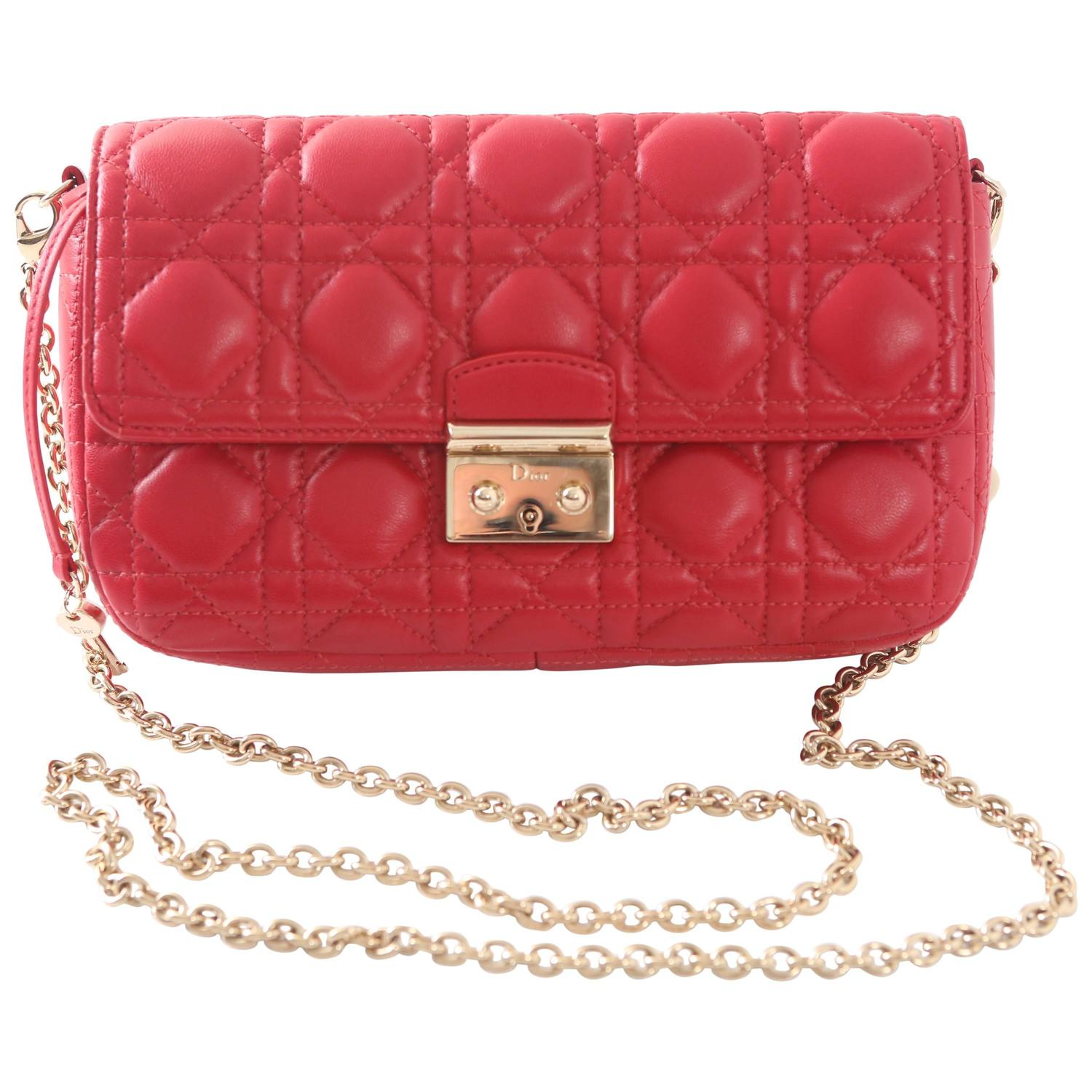 "2013 Christian Dior Red ""Miss Dior"" Promenade Clutch W ..."