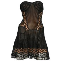 Christian Dior Lace Crochet Strapless Dress