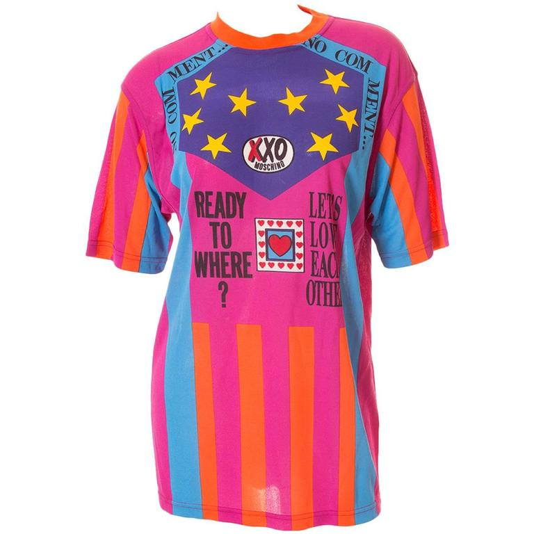 "Moschino ""Ready to Where?"" Cyclist Jersey Tshirt 1"