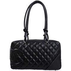 Chanel Black Quilted Cambon Bowler Bag