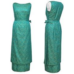 Jean Dessès haute couture silk lame evening gown, c. 1962