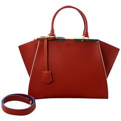 Fendi Brick Calfskin 3Jours Tote with White Interior