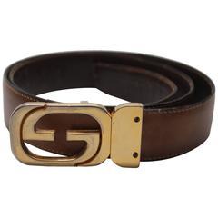 1970s Gucci Reversible Brown Belt