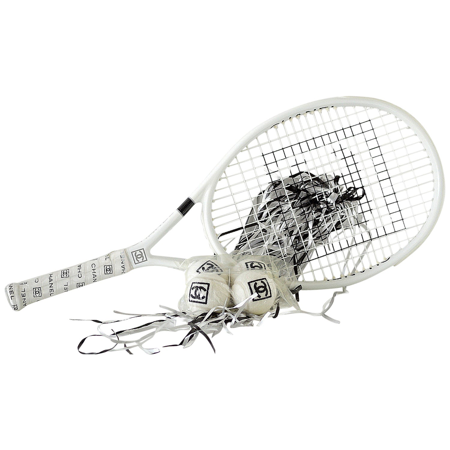 Chanel Limited Edition Tennis Racquet 4 Chanel Tennis Balls And Case