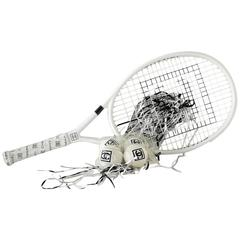 CHANEL Limited Edition Tennis Racquet 4 Chanel Tennis Balls and Case new