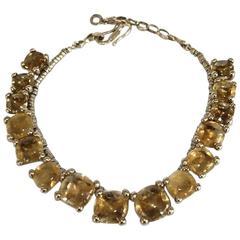 Goossens Paris Citrine and Bronze Necklace