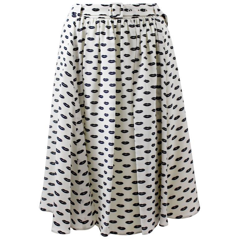Prada Kissing Lips Silk Skirt Resort Collection, 2012
