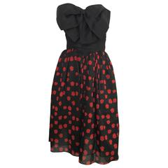 Bill Blass Bow Dress With Pockets Size 4.
