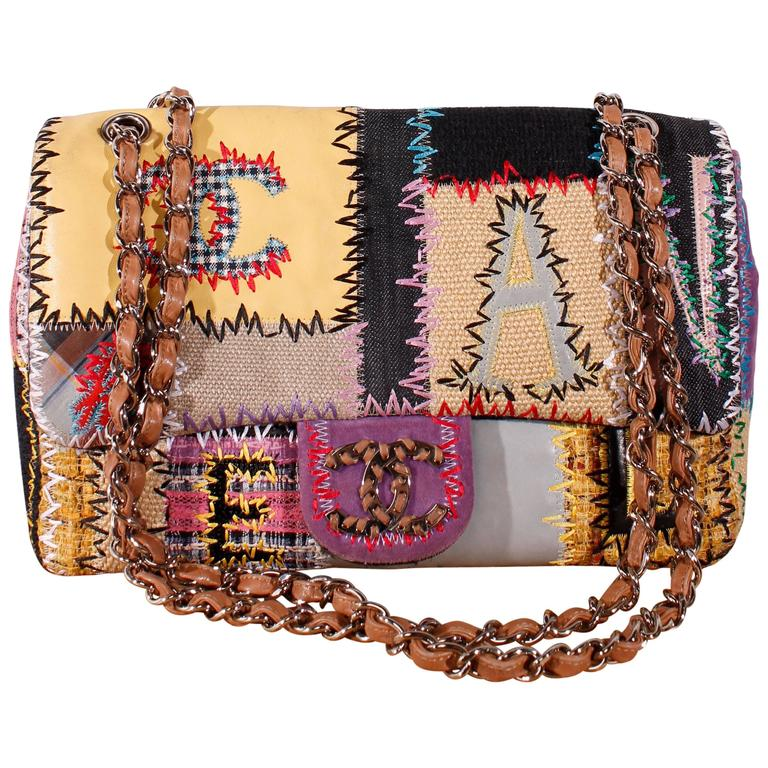 9b3d950f7a79 Chanel Patchwork Jumbo Classic Flap Bag - Limited Edition at 1stdibs