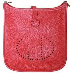 Hermes New Rouge Casaque Clemence TPM Mini Evelyne - 2015