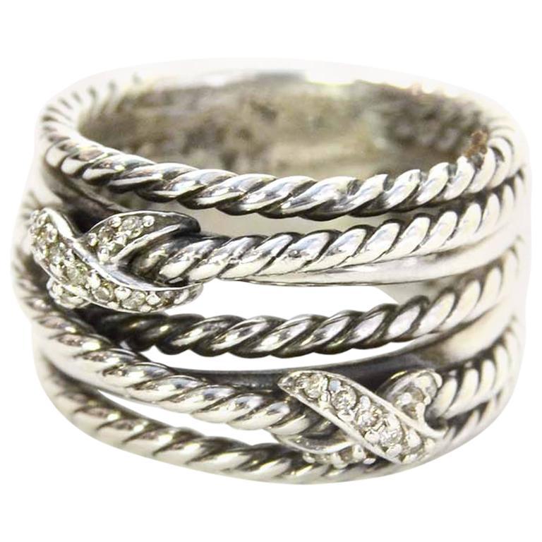 david yurman sterling and x crossover ring