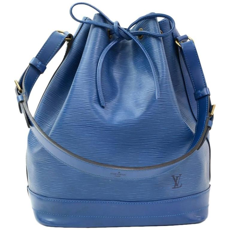 Louis Vuitton Noe Large Blue Epi Leather Shoulder Bag 1