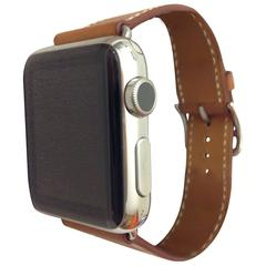 Hermes&Apple watch,Single Tour,38mm Stainless Steel Case,FAUVE BARENIA Leather b
