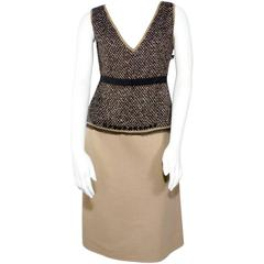 Prada Tweed Two Piece Skirt and Top Suit Set