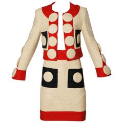 1990 Franco Moschino Couture Jacket + Skirt Suit as Owned by LACMA Museum
