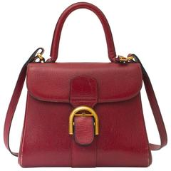 Delvaux Brillant PM Dark Red + strap