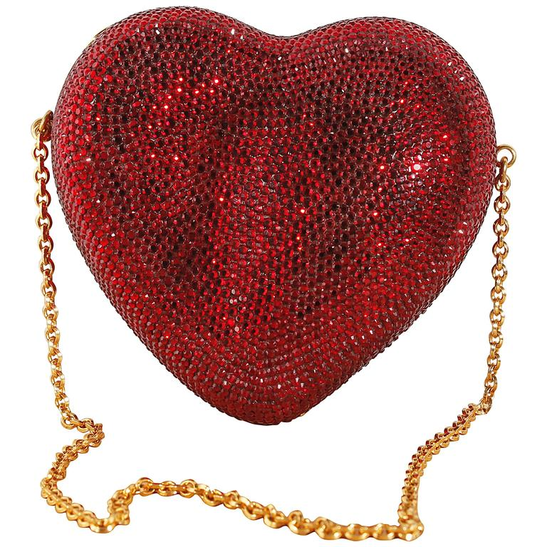 Judith Leiber Heart 'n Soul Sequin Clutch Bag 1