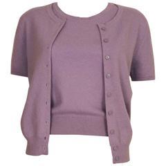 Chanel Lavender Cashmere Twinset