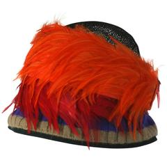 Prada Spring 2005, Exotic Feather Cloche Hat
