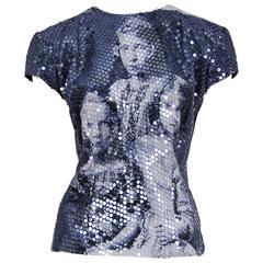 McQueen Romanov Print Sequin Top 1998 AW