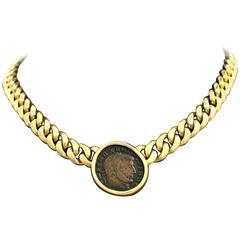 Bulgari Monete Classic Coin Gold Necklace