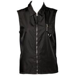 Prada Black Nylon Vest Jacket or Waistcoat