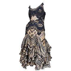 McQueen Printed Lace Dress