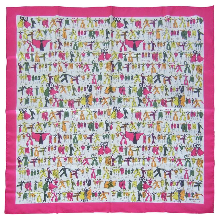 Sonia Rykiel Stylish Women Silk Print Scarf