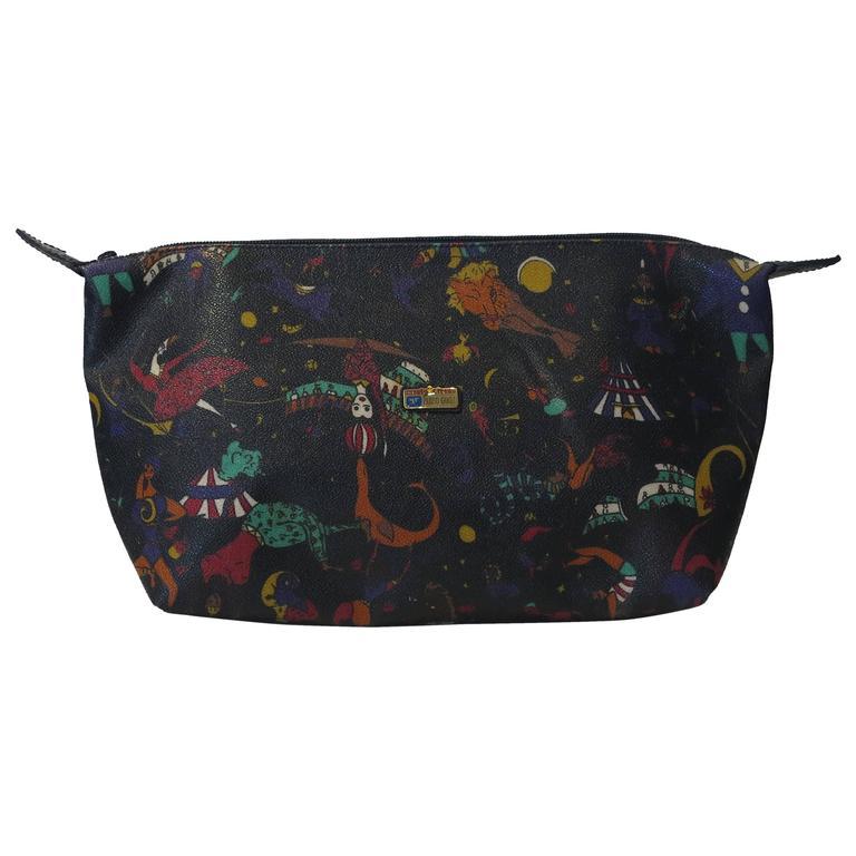 Piero Guidi Magic Circus in black large clutch handbag