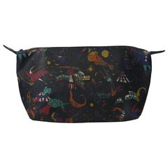 Piero Guidi Magic Circus in black large clutch handbag