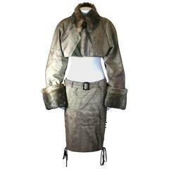 "Jean Paul Gaultier Trompe L'oiel Trench ""Suit"""